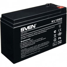 Battery SVEN SV 1290 (12V 9Ah), 12V voltage, 9A*h capacity, max. discharging rate of 128A, max. char