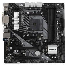 B450M PRO4-F Плата материнская  Asrock AM4, AMD B450, mATX, BOX