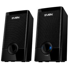 SV-015176 Колонки пластиковые SVEN 318, чёрный, акустическая система 2.0 (USB, мощность 2x2.5 Вт(RMS