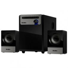 SV-014056 SVEN MS-110, черный, акустическая система 2.1, мощность (RMS): 5Вт+2x2.5Вт, USB/SD