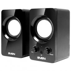SV-0120365BL SVEN 354, чёрный, USB, акустическая система 2.0, мощность 2х2 Вт(RMS)