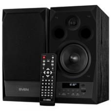SV-014018 SVEN MC-10, чёрный, акустическая система 2.0, мощность 2x25Вт (RMS), FM-тюнер, USB/microSD