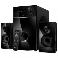 SV-012236 SVEN MS-2100, черный, акустическая система 2.1, мощность (RMS): 50Вт + 2х15Вт, SD/USB, FM-