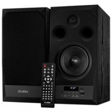 SV-014438 SVEN MC-20, чёрный, акустическая система 2.0, мощность 2x45Вт (RMS), FM-тюнер, USB/microSD