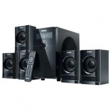SV-0140200BK SVEN HT-200, чёрный, акустическая система 5.1, мощность(RMS):20Вт+5х12 Вт, FM-тюнер, US
