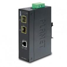 1-Port 10/100/1000Base-T - 2-Port Gigabit SFP Switch/Redundant Media Converter