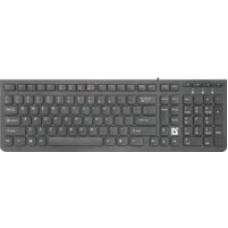 45530 Defender Проводная клавиатура UltraMate SM-530 RU,черный,мультимедиа