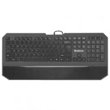 45602 Defender Проводная клавиатура Oscar SM-600 Pro RU,черный,полноразмерная USB