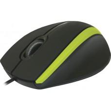 52346 Мышка USB OPTICAL MM-340 BLACK/GREEN DEFENDER