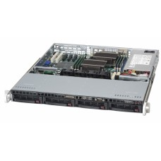 CSE-813MTQ-600CB Корпус 1U, ATX, 4x3.5'' hot-swap SAS/SATA