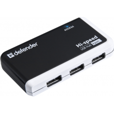 83504_С Универсальный USB разветвитель Defender Quadro Infix USB2.0, 4порта