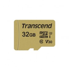 TS32GUSD500S Карта памяти Transcend 32GB UHS-I U3 microSD with Adapter, MLC
