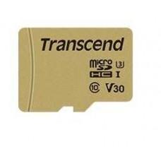 TS64GUSD500S Карта памяти Transcend 64GB UHS-I U3 microSD with Adapter, MLС