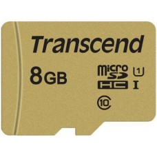 TS8GUSD500S Карта памяти Transcend 8GB UHS-I U1 microSD
