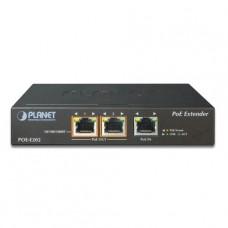 1-Port 802.3at PoE+ to 2-Port 802.3af/at Gigabit PoE Extender
