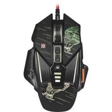 52390 Defender Проводная игровая мышь sTarx GM-390L оптика,8кнопок,грузики,3200dpi