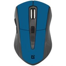 52967 Defender Беспроводная оптическая мышь Accura MM-965 голубой,6кнопок,800-1600dpi