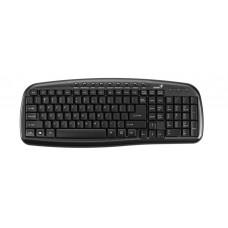 31310479102 Клавиатура Genius KB-M225, C, Black USB, RU, 9 мультимедийных клавиш