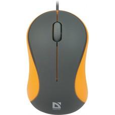 52971 Defender Проводная оптическая мышь Accura MS-970 серый+оранжевый,3кнопки,1000