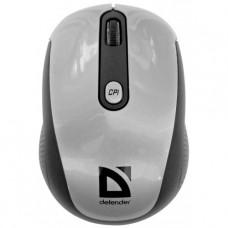 52125 Defender Беспроводная IR-лазерная мышь Optimum MS-125 серый,4 кнопки,1000-2000 dpi USB