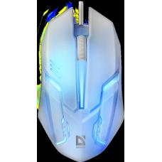 52561 Defender Проводная оптическая мышь Сyber MB-560L 7цветов,3кнопки,1200dpi,белый