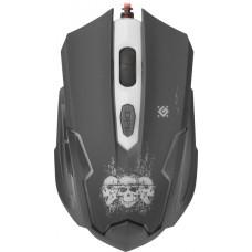52180 Defender Проводная игровая мышь Skull GM-180L оптика,6кнопок,800-3200dpi