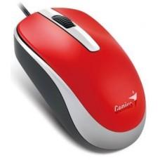 31010105104 Мышь Genius DX-120 Red, оптическая, 1000 dpi, 3 кнопки, USB
