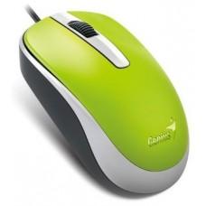 31010105105 Мышь Genius DX-120 Green, оптическая, 1000 dpi, 3 кнопки, USB